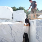 selecting marble
